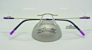 Silhouette 5500 BB Gold Plum 19-140  Drilled Rimless Titanium Eyeglass Frame