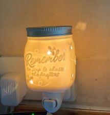 Brand New Scentsy Mini Wax Warmer Plug In (Burner) Chasing Fireflies