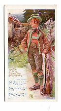Victorian Trade Card JULIUS MEINL'S CHOCOLATE COCOA Franz Schubert Der Jaeger