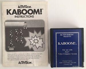 Kaboom! by Activision (Atari 2600, 1981) Blue Label cartridge + manual Tested