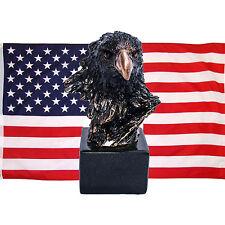Bald Eagle head figurine, black colred polystone minature,proud national bird