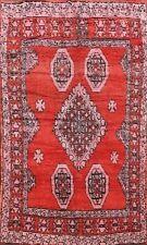 Vintage Tribal Geometric Moroccan Oriental Area Rug Handmade Wool Carpet 7x10 ft