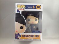 Singapore Girl Funko Pop #18 Ad Icons KrisShop Exclusive + 0.50 mm Pop Protector