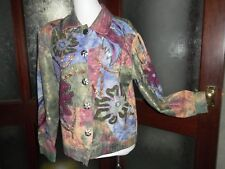 INDIGO MOON (Julia K) STUNNING Embellished Brocade & Tie-Dye Boxy Jacket M *BNWT