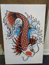 Print 16x25- Koi Fish- Artwork