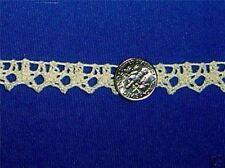 """Crochet Lace Trim Cluny Lace Trim Edging 100% Cotton 1/2"""" Beige 10 yds #E53"""
