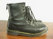 Dr. Martens Doc Made in England Vintage Black Greasy 1460 Boots Size Uk 5 / Us 7