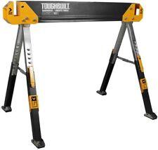 ToughBuilt 42 in Sawhorse Jobsite Folding 1300 lb Load Capacity Adjustable Steel