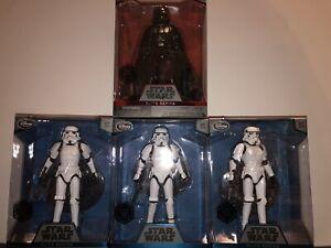 Star Wars Elite Series Disney Darth Vader & 3x Imperial Stormtroopers Diecast