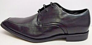 Kenneth Cole Reaction Size 12 Black Leather Oxfords New Mens Shoes