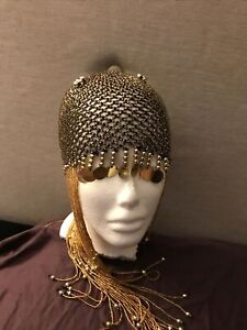 Gold Beaded Asp Headpiece Cleopatra Queen Of The Nile Egyptian Roman Fancy Dress