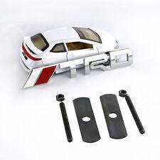 3D Metal White //TRD Front Grille Badge Decal Sticker Emblem Car Logo For Toyota