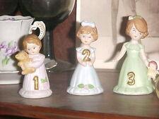 Vintage! 1982 Enesco Growing Up Birthday Girls.Year #2.(Year #1 is Sold)