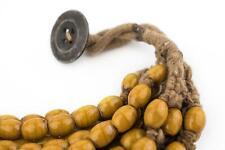 Orange Naga Bead Necklace Nepal Yellow Oval Glass