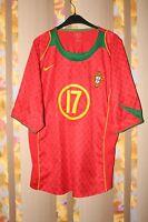 PORTUGAL NATIONAL TEAM RONALDO #17 2004/2005/2006 FOOTBALL JERSEY SHIRT HOME CR7