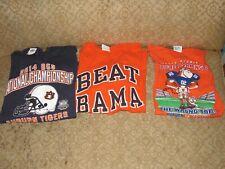 New listing Auburn University T-Shirt Lot 2014 Natl. Champs, 2002 Georgia Game, BEAT BAMA
