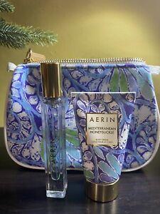 3 PCs Aerin Mediterranean Honeysuckle,Perfume Spray 7ML +Body Cream 30ml+ Bag