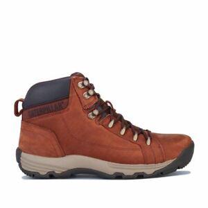Men's Caterpillar Supersede Lightweight Nubuck Leather Boots in Brown