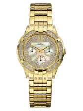NEW AUTHENTIC GUESS GOLD TONE STAINLESS  STELL ROMAN HOLIDAY W14036L1 ,WITH TAG