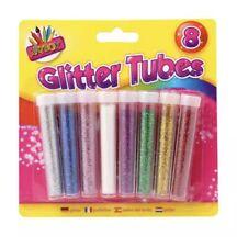 Glitter Tubes Assorted Colours - Art Crafts School Kids Children DIY Scrapbook