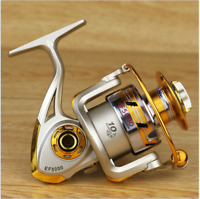 Spinning Fishing Reel EF500-EF7000 12BB Metal Spool Folding Arm Left Right 5.2:1