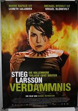 DS201 - Gerollt/KINOPLAKAT Stieg Larsson VERDAMMNIS Noomi Rapace