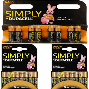 Duracell AA AAA Batteries Long Lasting Power Alkaline Battery Economy Pack 8