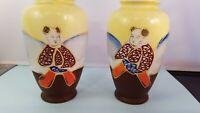 "7"" Pair of Asian Vases Ceramic/Porcelain   Japan."