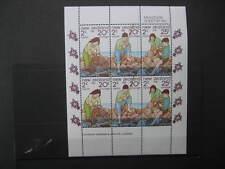 NEW ZEALAND 1981  HEALTH MINIATURE SHEET NHM SG MS 1252