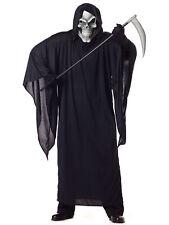 Grim Reaper Horror Robe Death Skeleton Halloween Mens Costume Plus