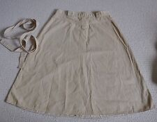 Retro Vintage, Beige A Line Skirt, Marks And Spencer, Size 14,