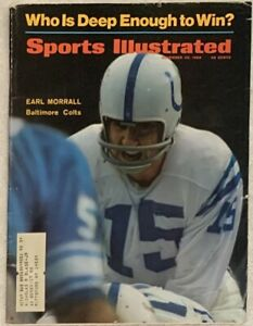 11.25.68 EARL MORRALL Sports Illustrated - BALTIMORE COLTS Vintage Car Print Ads