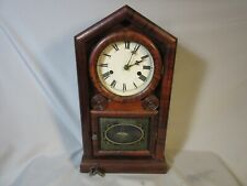 Antique New Haven 8 Day Mantel Clock, Working