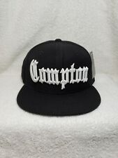 Compton Hat Cap Snapback Eazy E Black Los Angeles California NWA Old English W