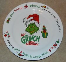 Dr. Suess how the Grinch stole Christmas cookie plate large 12""