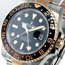 ROLEX GMT MASTER ll 126711 40 mm STEEL 18K PINK EVEROSE GOLD ROOT BEER BROWN