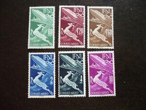 Stamps - Ifni - Scott# C50-C55