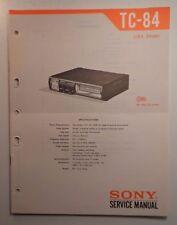 1975 Sony TC-84 Service Manual - Quadradial Auto Stereo