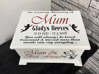 Ashes Casket Memorial Urn Personalised memory box LC17