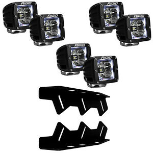 RIGID LED Fog Light Kit Radiance WHITE Back Light for 2017-2020 Ford F150 Raptor