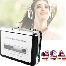 USA STOCK! USB Cassette Tape to MP3 iPod CD Converter Capture Audio Music Player