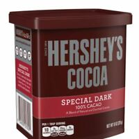 2 PACK Hershey's Special Dark  Cocoa Powder Natural Unsweetened 100% Cacao