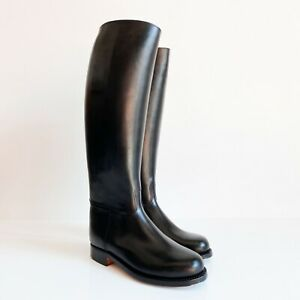 BOTTES WESTON FRENCH POLICE BOOTS MOLLET XL CALF EU41 US8 UK7.5 LEATHER BLUF