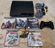 Playstation 3 ps3 Konsole Slim 160gb + 6 TOP Spiele und offizieller Controller