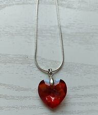 Swavoski Crystal Heart Pendant with Sterling Silver Chain