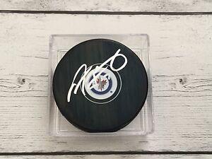 Adam Lowry Autographed Signed Winnipeg Jets Hockey Puck b
