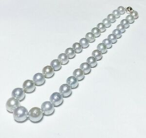 Certificate 7-8mm Aus south sea pearl /& Tahitian pearl necklace 80cm Japan order