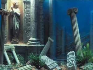 "19"" TALL Greco-Roman Background Poster for Aquarium / Vivarium / Fish Tank / Viv"