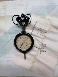 Vintage soviet bakelit anemometer U5 in original packing tube with documents USS