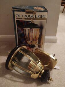 NEW! Catalina Solid Brass Outdoor Wall Light Fixture Black Beveled 419403/10-6